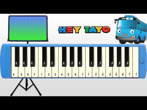 Not Angka Pianika Lagu Hey Tayo