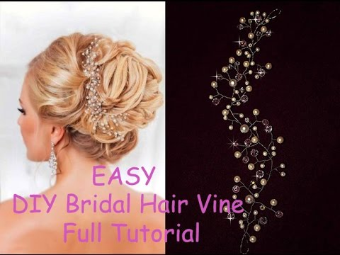 DIY Bridal Crystals & Pearls Tiara Hair Vine Headband Crown Bridal Hair Headpiece