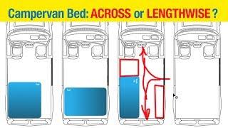 Campervan Build: CROSSWISE vs LENGTHWISE BED -- #vanlife
