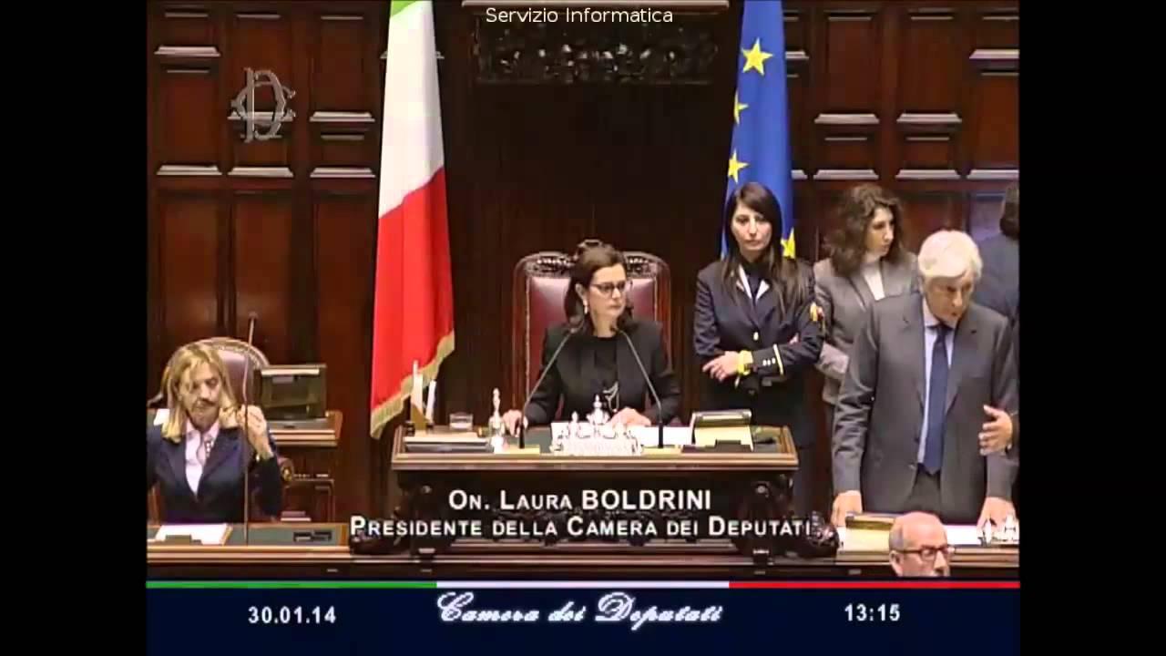 Laura boldrini su gravi comportamenti in aula alla camera for Presidente dei deputati