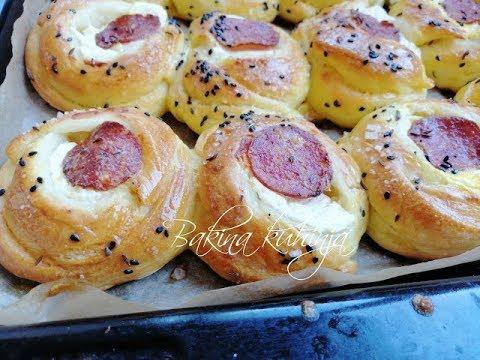 Bakina kuhinja -  slana peciva sa sirom i kobasicom