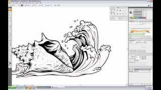 Vector Seashell Speed Drawing - Illustrator