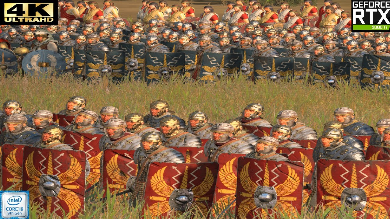 Total War Rome II : 4k Benchmark test - Extreme graphic settings RTX 2080 Ti