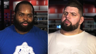 Superheavyweights Lakeem Bradberry and Spencer Charette push through the pain at a WWE tryout