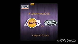 Los Angeles Lakers vs San Antonio Spurs Live 1/11/18