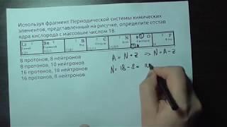 определение состава ядра по таблице Менделеева