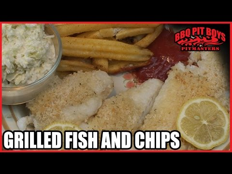 Grilled Fish And Chips With Slaw Recipe By The BBQ Pit Boys