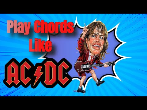 How to Play AC/DC Style Guitar Chords | Beginner Guitar | Steve Stine Guitar Lessons