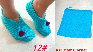 How to knit - Very easy women booties knitting in hindi / Socks for Ladies Knitting by Two Needles