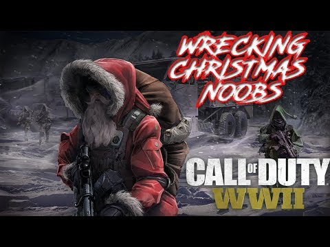 WRECKING CHRISTMAS NOOBS! COD WW2 SNIPING (OVER 25K SNIPER KILLS)