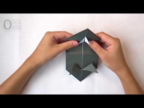 How to make a ORIGAMI DINOSAUR TRICERATOP   paper Dinosaur