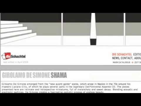 Girolamo De Simone SHAMA, cd integrale