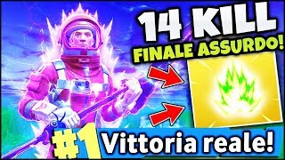 A VERY POWERFUL AURA!! 14 KILL AND REAL VITTORY! FORTNITE ITA