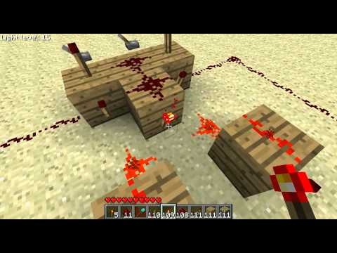 Minecraft xor schaltung erkl rung youtube for Porte xor minecraft