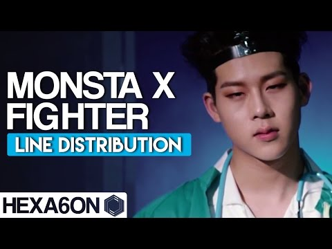 Monsta X - Fighter Line Distribution (Color Coded)