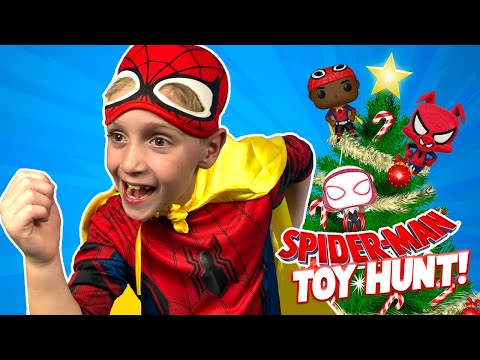 Spider-Man Into the Spider-Verse Movie Christmas Toys Hunt & Unboxing! KIDCITY