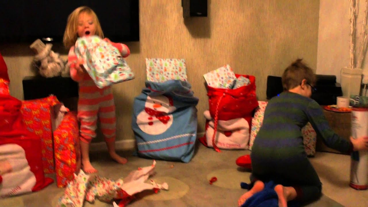 Very excited kids on Christmas morning! - YouTube