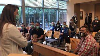Methodist Hospital Stone Oak chief nursing officer thanks the Obregon family