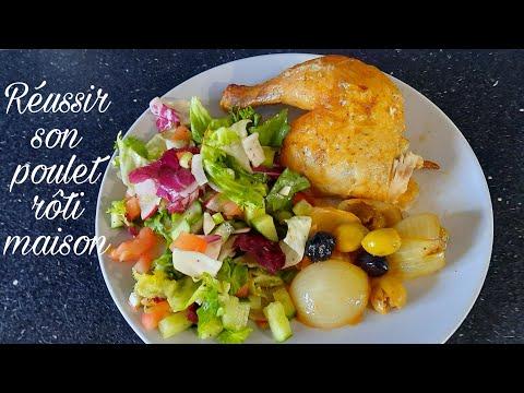 recette-de-poulet-rôti-inratable- -tendre,-moelleux-et-hyper-facile-🍗