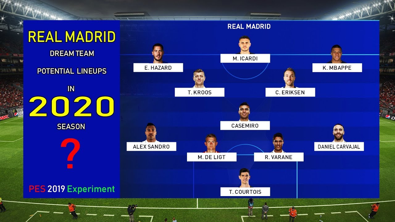 How REAL MADRID Should Line Up Next Season 2020 If They Want To Be A Force Once More