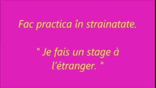 Curs rapid de Limba Franceza fara profesor: 55 Munca (Travailler)