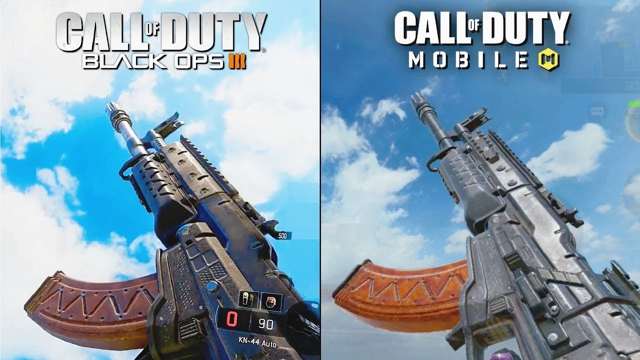 Call of Duty Mobile VS Call of Duty Black Ops 2 Weapon Sound & Animation Comparison