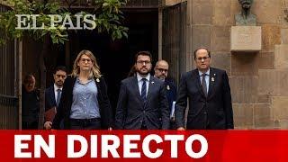 Directo Quim TORRA y Roger TORRENT: Declaración institucional