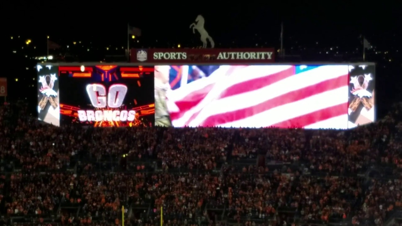 quality design cf6d3 e257e Denver Broncos entrance vs Chiefs during their Salute to Service Game!  November 27, 2016