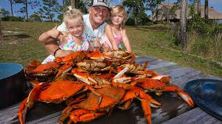 Catching MONSTER Crabs with my PRECIOUS Daughters! {Catch Clean Cook} Daddy Daughter Picnic!