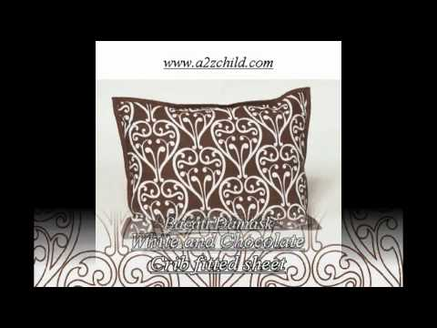 Bacati - Damask Pink And Chocolate 10 Piece Crib Set - A2zchild.com.avi