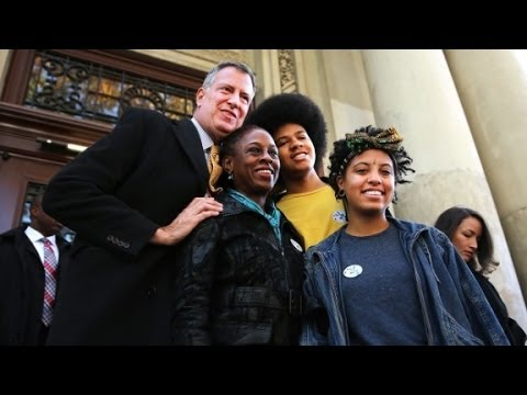 Image result for bill deblasio's family you tube