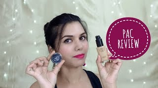 PAC HD Liquid Foundation & PAC Shimmer Eye Base Demo & Review   omnistyles
