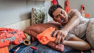 LTT Nerf War : Couple SEAL X Warriors Nerf Guns Fight Group Of Intruding Thieves Dr.Lee Crazy