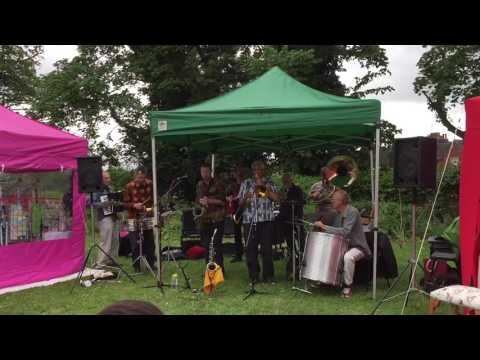 Loud band at the annual summer fair