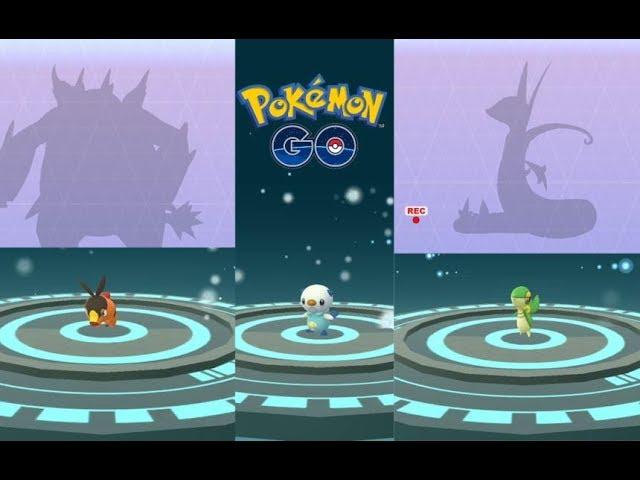 Unova Gen 5 Starter Pokemon Evolution Tepig, Snivy, Oshawott and Klink  more! - YouTube