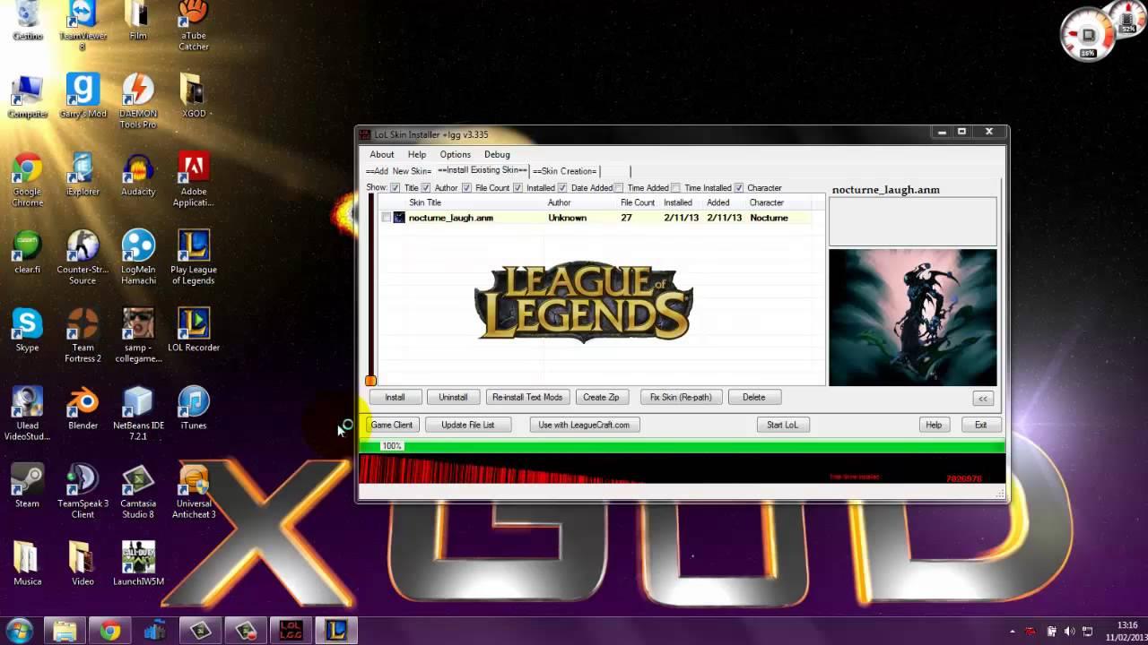 Lol wooxy skin installer für league of legends | tutorial | german.