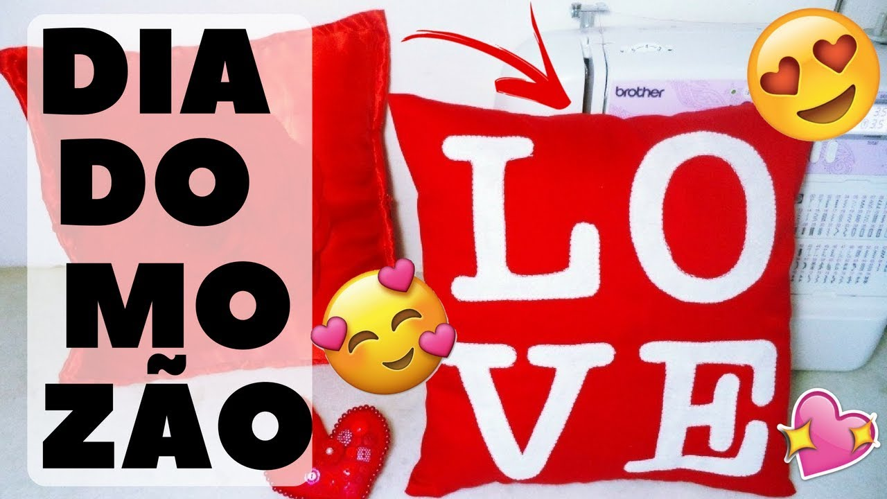 31abca4bef4654 Almofada Love - DIY Dia dos Namorados - Costura Criativa