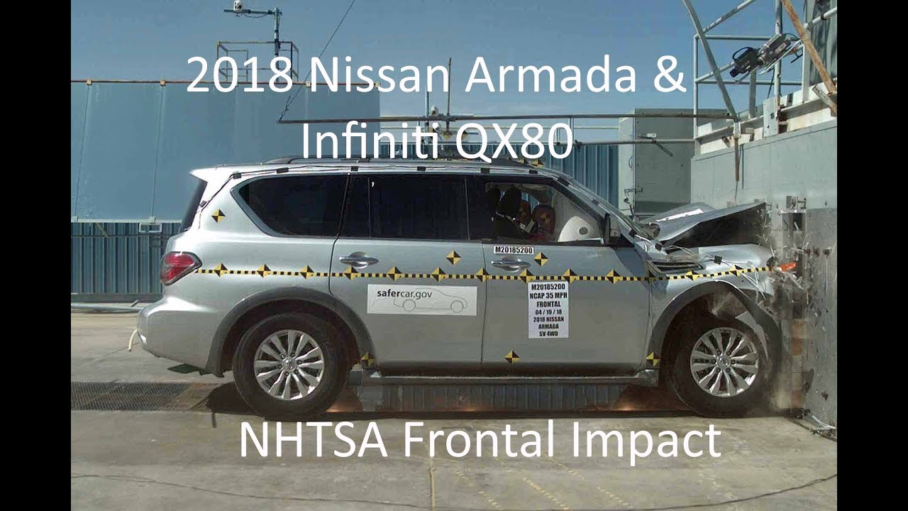 2018 Nissan Armada Patrol Infiniti Qx80 Nhtsa Frontal Impact Youtube