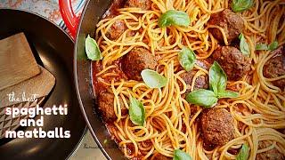 Spaghetti and Meatballs - the best pasta Sauce &amp Juicy meatballs one pot recipe