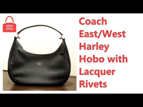 Coach East/West Harley Hobo with Lacquer Rivets 22548