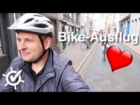 Bike-Tour durch Antwerpen und halber Flusstag - A-Rosa Flora - Vlog #3 - Flusskreuzfahrt