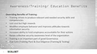 Security Training, Education, and Awareness (CISSP Free by Skillset.com)