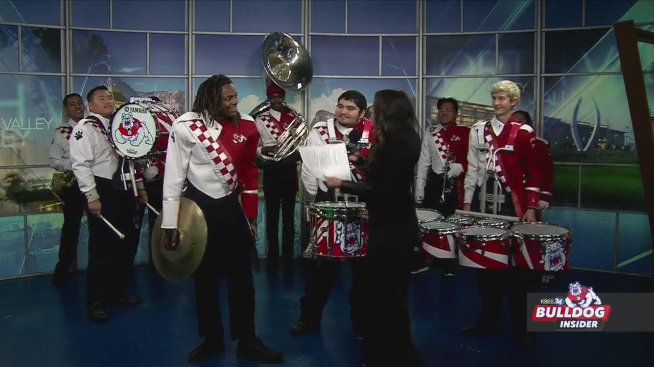 Fresno State marching band performs LIVE on Bulldog Insider!