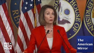 nancy pelosi freezes during math problem aide helps with answer
