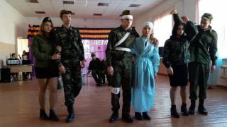 Инсценировка военной песни. Школа №3 9Б город Темрюк