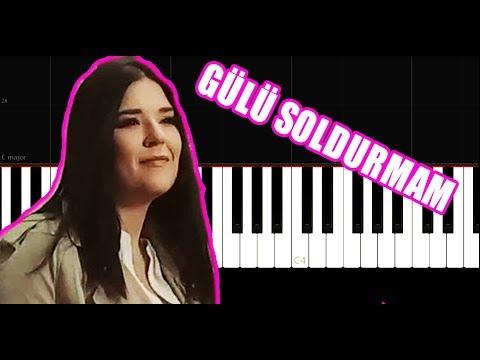 Tuğçe Kandemir - Gülü Soldurmam - Piano Tutorial by VN
