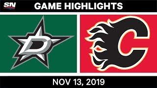 NHL Highlights   DAL vs. CGY - Nov. 13, 2019