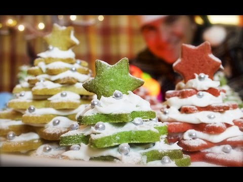 3D Cookie Christmas Trees: Cinnamon Shortbread Stack