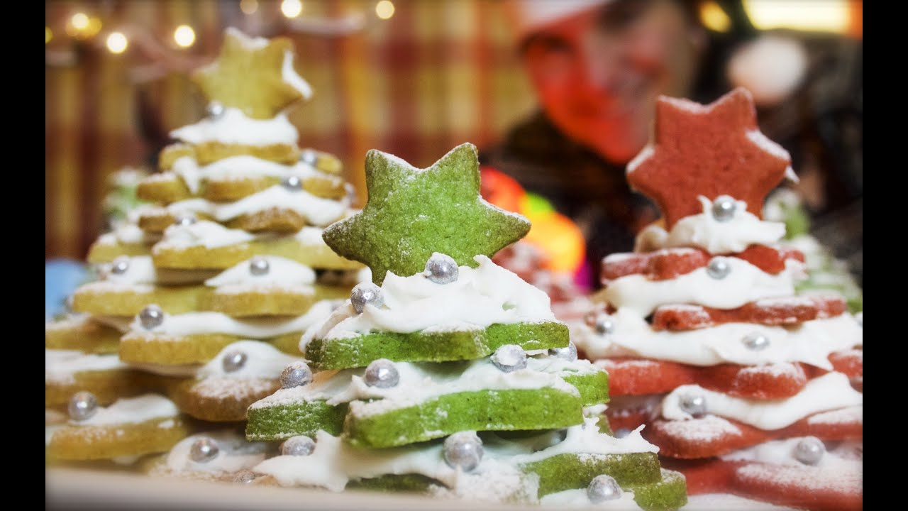 3d Cookie Christmas Trees Cinnamon Shortbread Stack