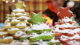 3D Cookie Christmas Trees: Cinnamon shortbread stack